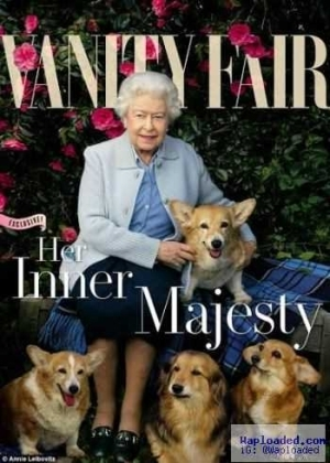 Queen of England and her dogs cover Vanity Fair Magazine (photo)